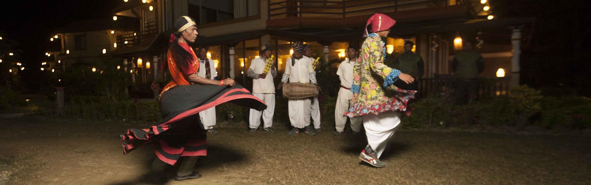Tharu cultural program in chitwanr